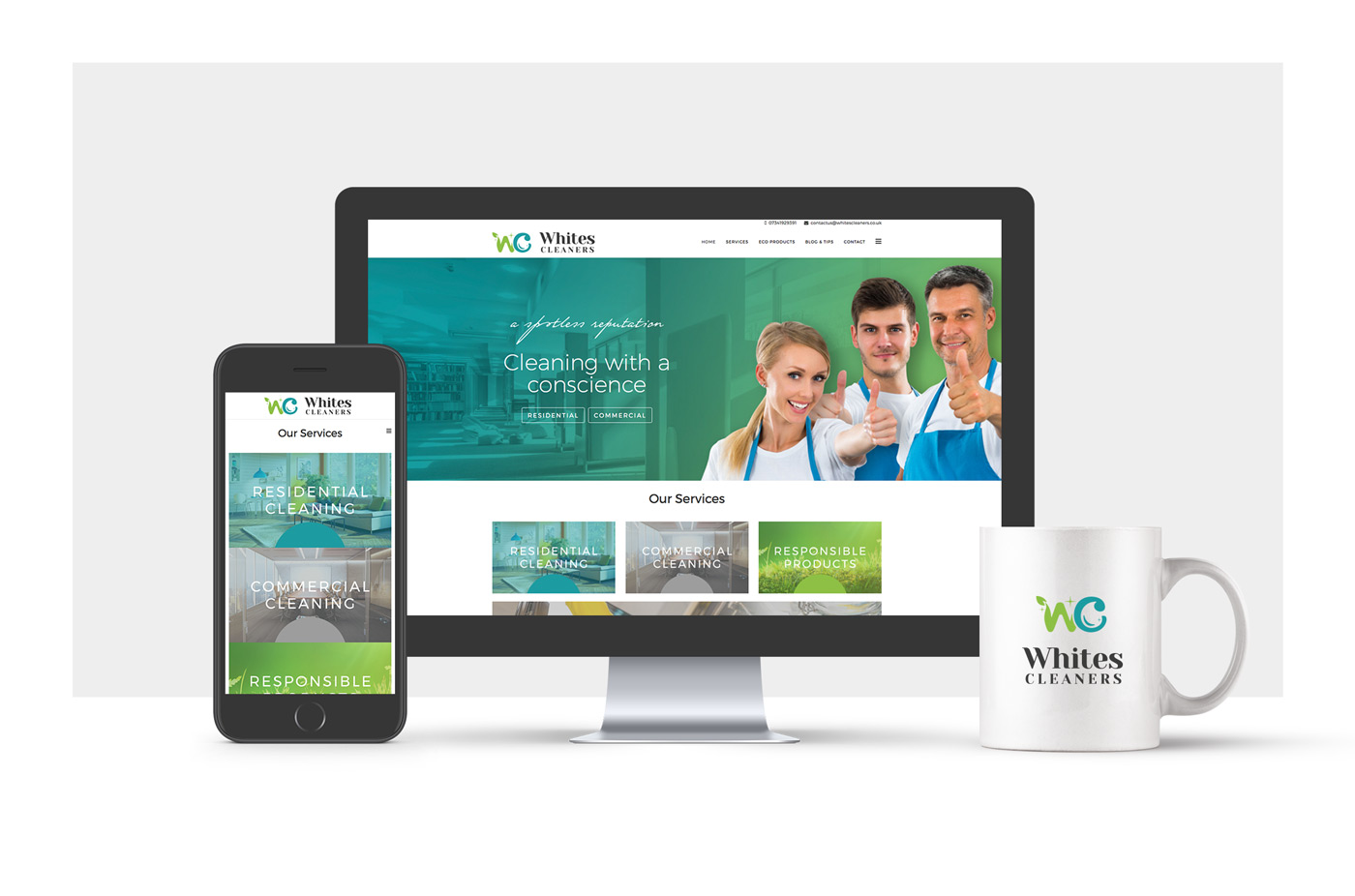 Whites Cleaners Website Development